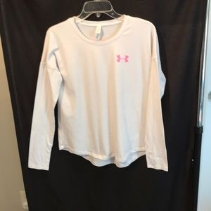 Under Armour ladies size YXL white long sleeve